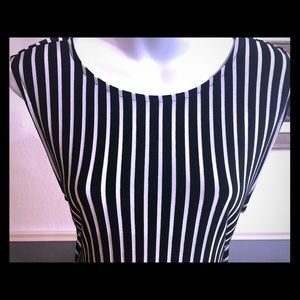 Miss cocoa sexy fitted striped dress w open back